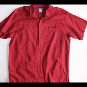 Patagonia Cranberry Red Hemp/Organic Cotton Shirt